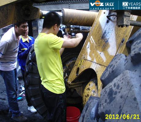 河南豫煤装载机秤项目