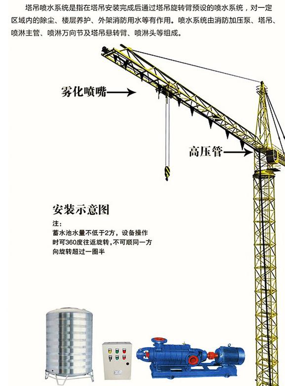 塔吊喷淋降尘系统安装示意图